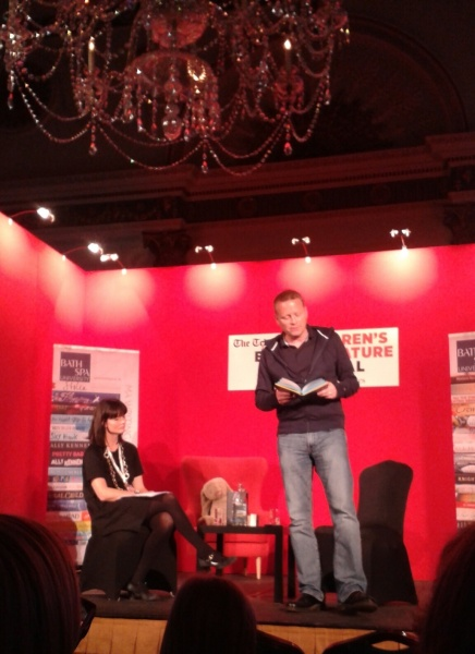 Patrick Ness reading from #TheRestofUs at #BathKidsLitFest