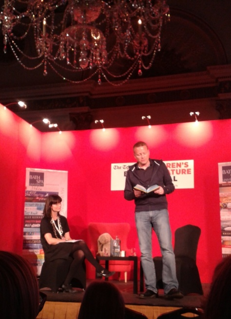 Patrick Ness reading from #TheRestofUs