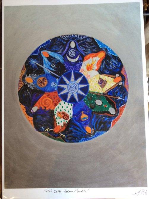 Nine Ladies Morrigan Mandala by Laura Daligan