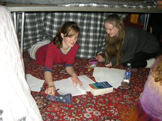Writing Fort, some of Beth's students at work