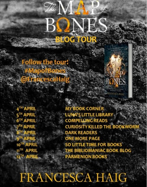The Map of Bones blog tour banner final